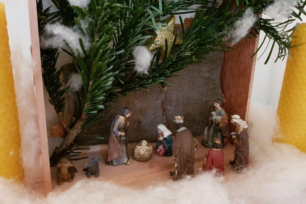 Weihnachtskrippe fürs Kinderzimmer