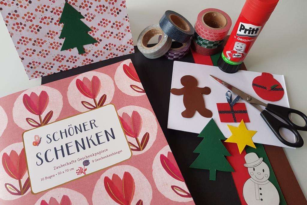 Weihnachtskarten Baby Basteln.Pop Up Weihnachtskarten Basteln Mama Im Ländle