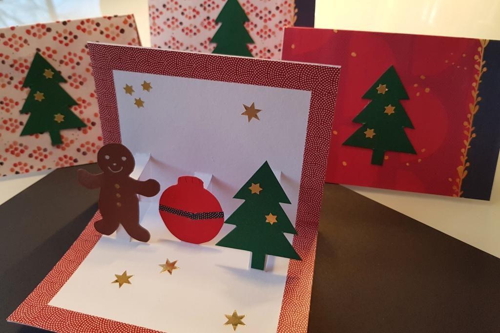 Pop-Up Weihnachtskarten basteln