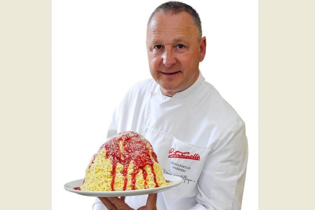 Das Spaghetti-Eis wird 50